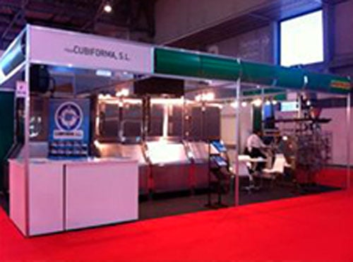 stand maquinaria industrial hielo